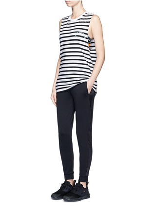 Figure View - Click To Enlarge - The Upside - ''Lucky' feeder stripe cotton tank top