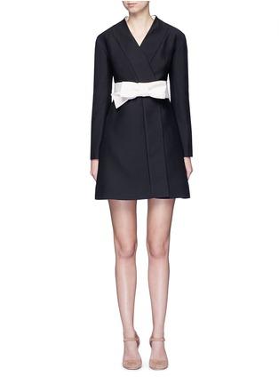 Main View - Click To Enlarge - Valentino - Kimono wrap wool-silk A-line dress