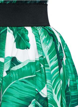 Detail View - Click To Enlarge - Dolce & Gabbana - Banana leaf print poplin circle skirt