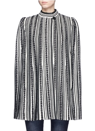 Main View - Click To Enlarge - Alexander McQueen - Textured knit cape