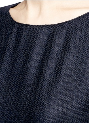 Detail View - Click To Enlarge - The Row - 'Nikita' textured cashmere-silk kaftan dress
