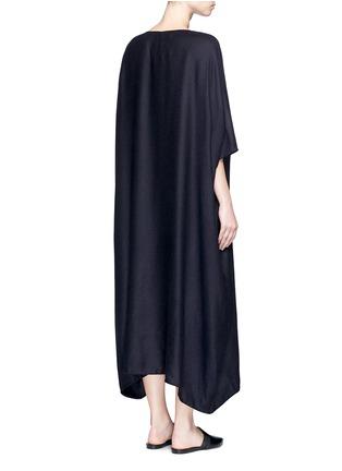 Back View - Click To Enlarge - The Row - 'Nikita' textured cashmere-silk kaftan dress