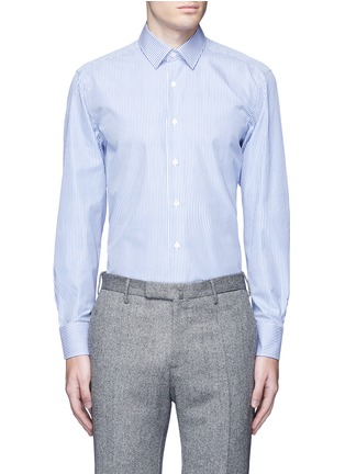 Main View - Click To Enlarge - Canali - Stripe cotton shirt
