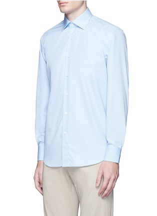 Front View - Click To Enlarge - Canali - Cotton poplin dress shirt