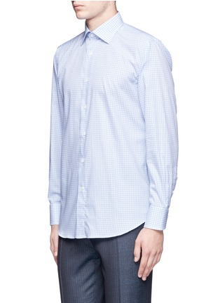 Front View - Click To Enlarge - Canali - Check cotton poplin shirt