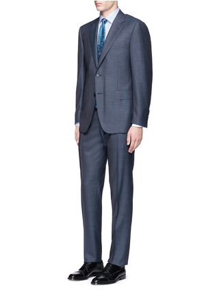 Figure View - Click To Enlarge - Canali - Check cotton poplin shirt