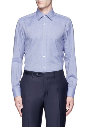 Main View - Click To Enlarge - Canali - Double faced cotton flannel shirt