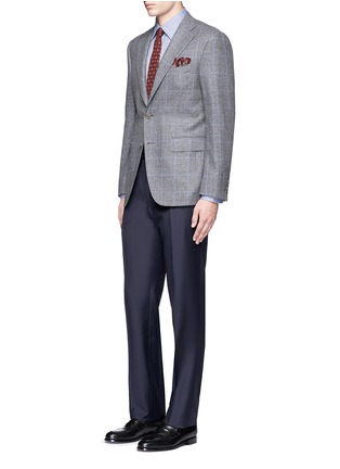 Figure View - Click To Enlarge - Canali - Double faced cotton flannel shirt