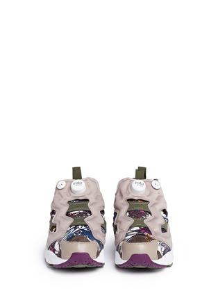 Front View - Click To Enlarge - Reebok - 'Instapump Fury Seasonal Graphic Pack' sneakers