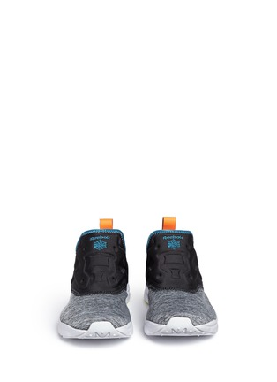 Front View - Click To Enlarge - Reebok - 'Furylite Slip-on Lux' colourblock sneakers