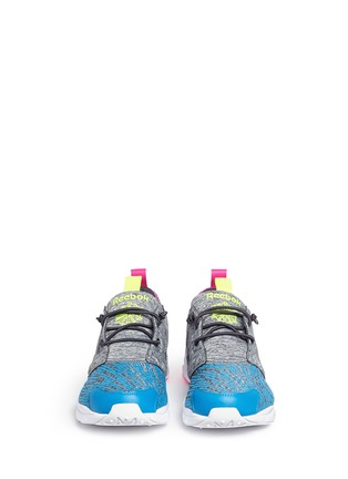 Front View - Click To Enlarge - REEBOK - 'Furylite Contemporary' colourblock stripe jersey sneakers