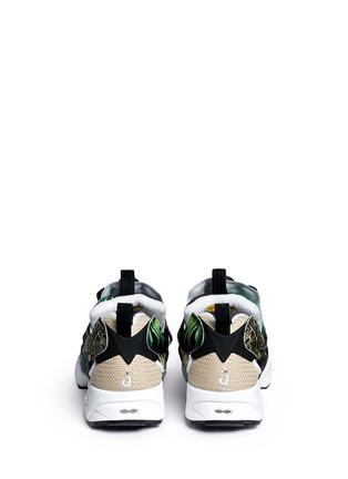 Back View - Click To Enlarge - Reebok - 'Instapump Fury JG' leaf print sneakers