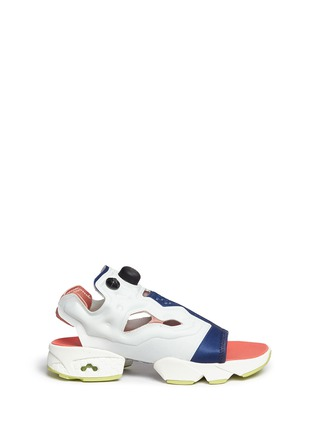 Main View - Click To Enlarge - Reebok - x FACE Stockholm 'Instapump Fury' sandals