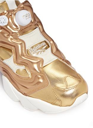 Detail View - Click To Enlarge - Reebok - 'Instapump Fury Celebrate' metallic sneakers