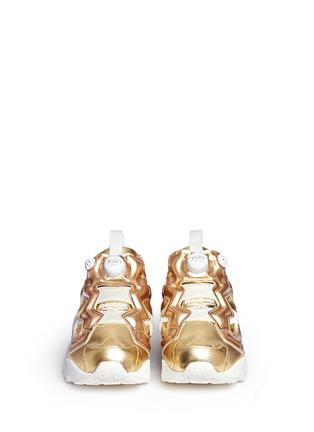Front View - Click To Enlarge - Reebok - 'Instapump Fury Celebrate' metallic sneakers