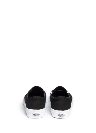 Back View - Click To Enlarge - Vans - x Baron Von Fancy 'Classic' slogan print canvas slip-ons
