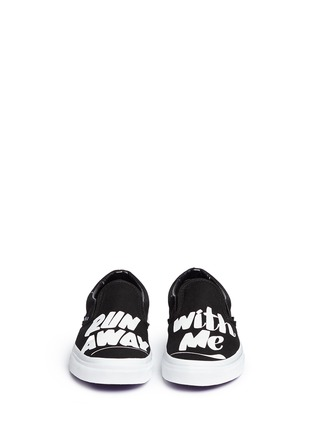 Front View - Click To Enlarge - Vans - x Baron Von Fancy 'Classic' slogan print canvas slip-ons
