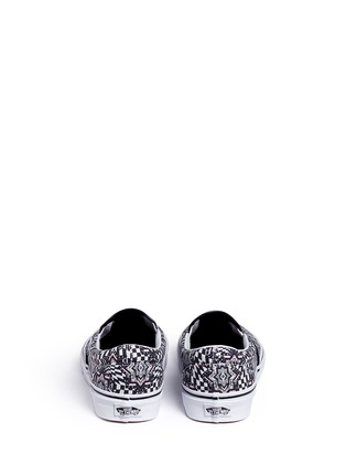 Back View - Click To Enlarge - VANS - 'Checker Kaleidoscope Classic' canvas skate slip-ons
