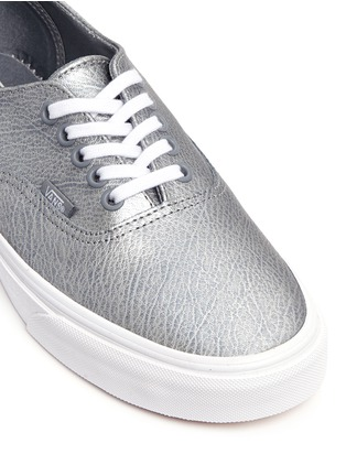 Detail View - Click To Enlarge - Vans - 'Authentic Decon' metallic leather sneakers
