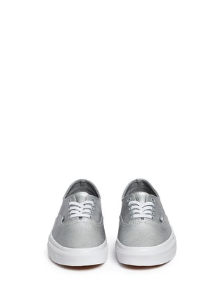 Front View - Click To Enlarge - Vans - 'Authentic Decon' metallic leather sneakers