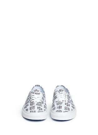 Front View - Click To Enlarge - Vans - x Baron Von Fancy 'Authentic' slogan print canvas sneakers