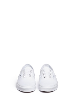 Front View - Click To Enlarge - Vans - 'Studs Authentic Gore' canvas slip-ons