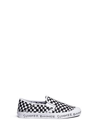 Main View - Click To Enlarge - Vans - x Summer Bummer checkerboard print skate slip-ons