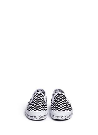Figure View - Click To Enlarge - Vans - x Summer Bummer checkerboard print skate slip-ons