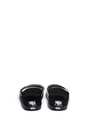 Back View - Click To Enlarge - Vans - x SUMMER BUMMER 'Sum Bum' faux leather slide sandals