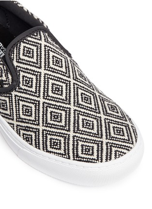 Detail View - Click To Enlarge - Vans - '59 Cup' diamond pattern embroidered slip-ons