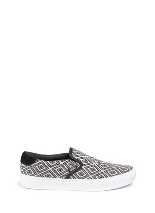 Main View - Click To Enlarge - Vans - '59 Cup' diamond pattern embroidered slip-ons