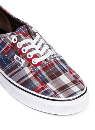 Detail View - Click To Enlarge - Vans - 'Authentic' plaid patchwork sneakers