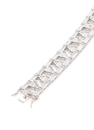 Detail View - Click To Enlarge - CZ by Kenneth Jay Lane - Baguette cut cubic zirconia bracelet