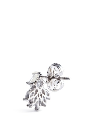 Detail View - Click To Enlarge - CZ by Kenneth Jay Lane - Cubic zirconia marquise fringe earrings