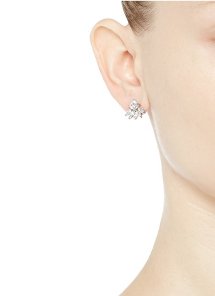 Figure View - Click To Enlarge - CZ by Kenneth Jay Lane - Cubic zirconia marquise fringe earrings
