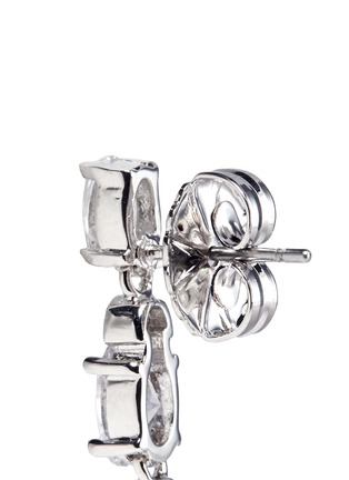 Detail View - Click To Enlarge - CZ by Kenneth Jay Lane - Graduating oval cut cubic zirconia drop earrings