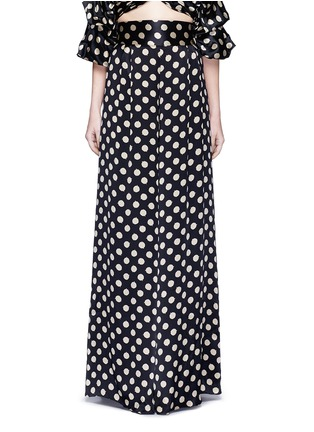Main View - Click To Enlarge - Johanna Ortiz - 'Don Juan' dot print wide leg silk pants