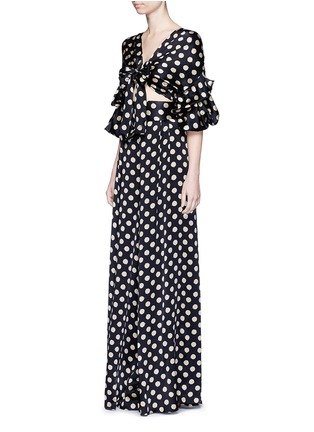 Figure View - Click To Enlarge - Johanna Ortiz - 'Don Juan' dot print wide leg silk pants