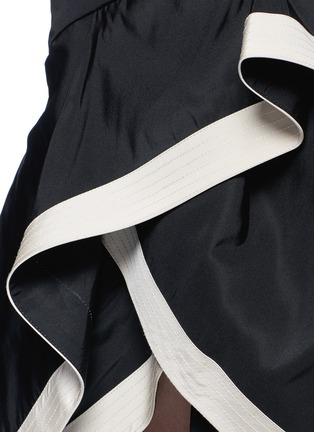 Detail View - Click To Enlarge - 73052 - 'Julio Verne' suede bow belt silk taffeta skirt