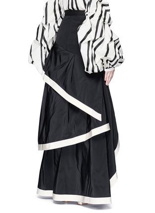 Back View - Click To Enlarge - 73052 - 'Julio Verne' suede bow belt silk taffeta skirt