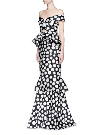 Figure View - Click To Enlarge - Johanna Ortiz - 'Miss Golightly' polka dot ruffle gown