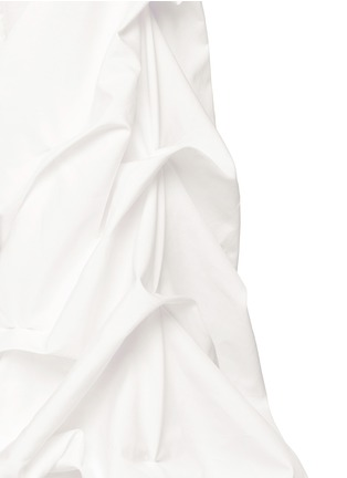 Detail View - Click To Enlarge - Johanna Ortiz - 'Fedra' off-shoulder sash tie cropped top