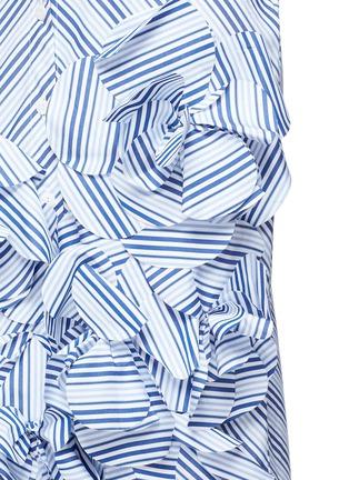 Detail View - Click To Enlarge - Johanna Ortiz - 'Emma' stripe floral appliqué skirt