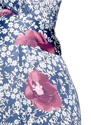 Detail View - Click To Enlarge - Johanna Ortiz - 'Fermina' floral print sash tie wide leg jumpsuit