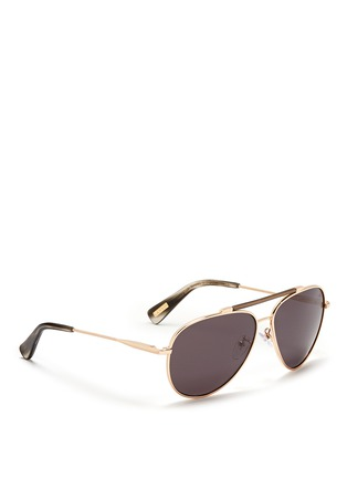 Figure View - Click To Enlarge - Lanvin - Wrapped top bar screw edge metal aviator sunglasses