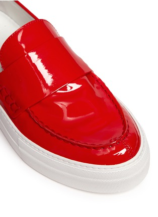 Detail View - Click To Enlarge - Moncler - 'New Roseline' patent leather flatform loafers