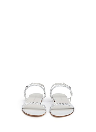 Front View - Click To Enlarge - Stuart Weitzman - 'Trail Mix' jewelled leather sandals