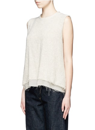 Front View - Click To Enlarge - Simon Miller - 'Attoyac' double layer raw hem muscle top