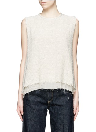 Main View - Click To Enlarge - Simon Miller - 'Attoyac' double layer raw hem muscle top