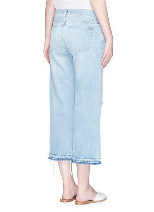 Back View - Click To Enlarge - Simon Miller - 'Yerma' frayed cuff ripped light wash jeans